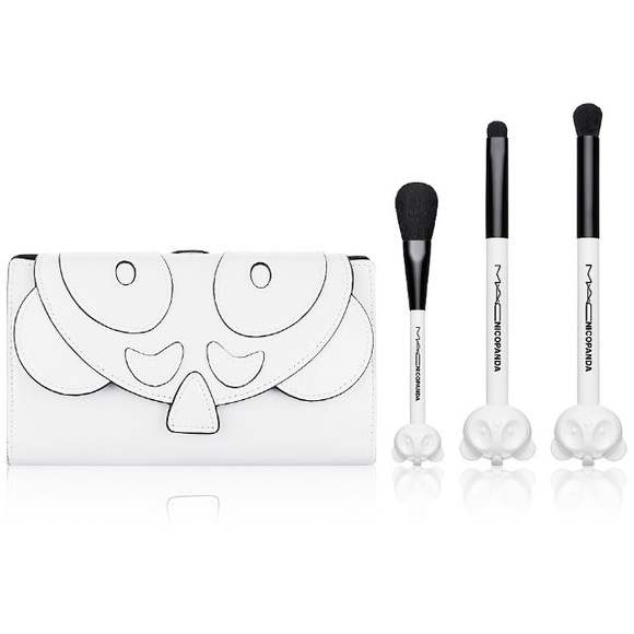 mac cosmetics other - m•a•c x nico panda case & brush set